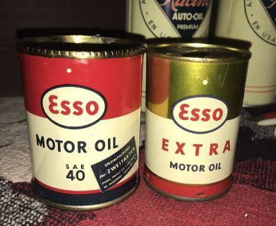 Esso Coin Bank + Motorcycle Oil Can