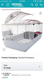 Extra large deluxe rabbit cage