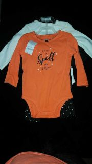 Adorable NWT CARTERS 3piece baby girls Halloween set9months
