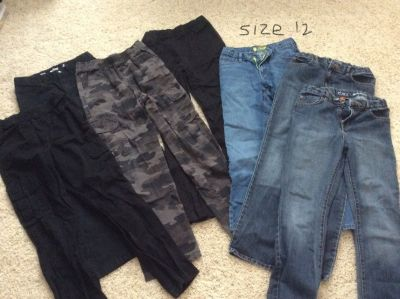 Boys size 12 pants and jeans