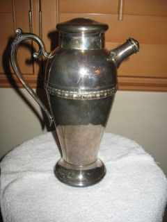 Silver plated coffee/tea pitcher