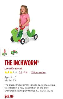 The inchworm ride on new