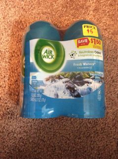 Aire Wick freshmatic ultra refills 2 pack - fresh waters