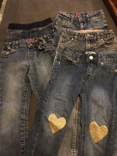 5 pairs of 3T jeans