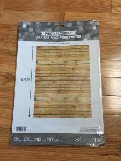 Photo Backdrop. Wood Grain. 72 inches (6ft) x 54 inches (4.5ft). Brand New with Tags.
