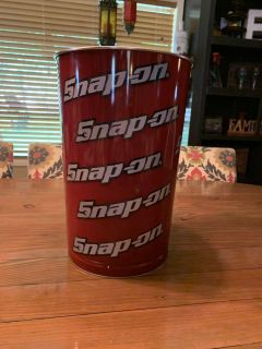 Collectible Snap On Tools Metal Trash Can