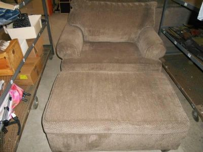 oversized chair and ottoman that opens for storage