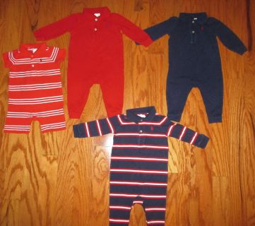 Polo Rugby Coveralls -sz 9 mos