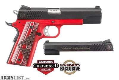 For Sale: NRA LIMITED EDTION RUGER SR1911 45ACP RED LOW SERIAL NUMBER