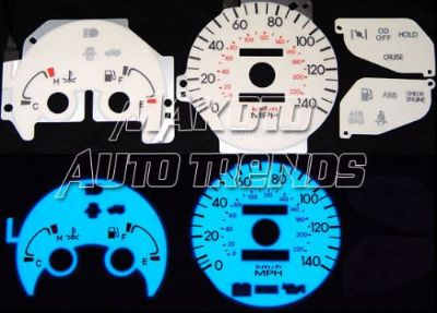 Purchase Hyundai Elantra 1997 W/o Tach 6 Color Glow Gauge with Inverter Set motorcycle in Monterey Park, California, United States, for US $24.99