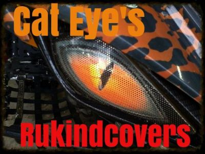 "Purchase Yamaha Raptor 660 CAT Eyes HeadLight Covers ""ORIGINAL RUKINDCOVERS""HOT NEW motorcycle in Medina, Ohio, United States, for US $18.00"