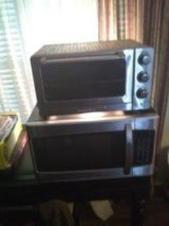 microwave and toster oven