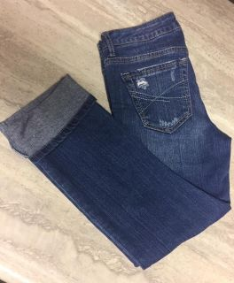 Aeropostle Skinny Rolled Capri Jeans Size 1-2. Very Good Condition! CP.