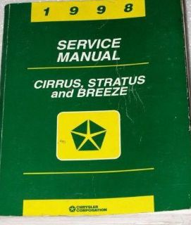 Find 1998 Dodge Stratus Plymouth Breeze Chrysler Cirrus Shop Repair Service Manual motorcycle in Sterling Heights, Michigan, US, for US $19.99