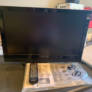 22 Dynex TV with remote, manual & power cord