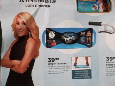 New Lori Greiner Simply Fit Board for Abs & Legs