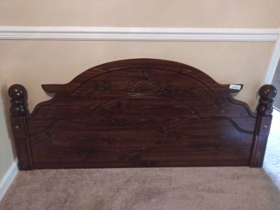 Queen head board, foot board, and frame