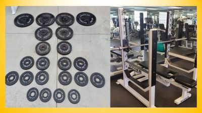 Commercial gym equipment weights