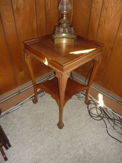 Antique Solid Cherry Wood End Table