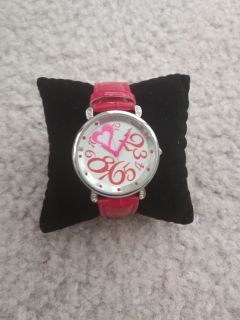 Red Strap Heart Watch, Needs New Battery