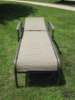 Outdoor Patio Chaise Reclining Lounge Chair