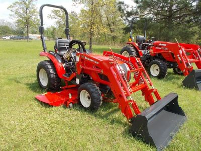 2017 Branson Tractor 24hp w/ front loader & belly mower