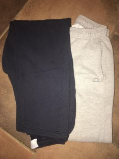 2 Pair Champion Men s Sweat Pants EUC Large Blue and Gray