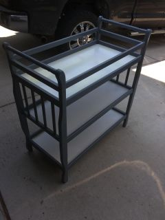 EUC Grey and White Changing Table