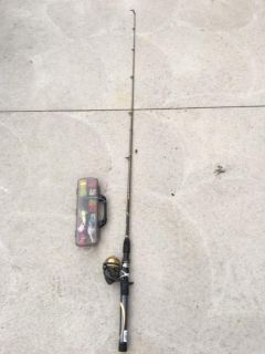 Fishing pole with fishing supplies