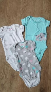 Set of 3 carters dog onesies 0-3 month