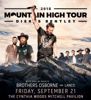 (2/4) DIERKS BENTLEY 6th Row/Aisle Concert Tickets - Fri Sept 21 - BELOW COST!