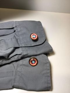 New Captain America Shield Cufflinks *crossposted