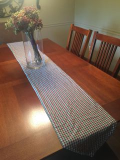 Farmhouse style table runner and placemats