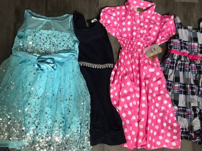 Lot of (6) size 8 girl dresses