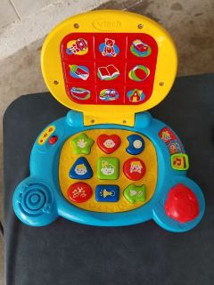 Baby's Talking/Musical Learning Blue Laptop By VTech