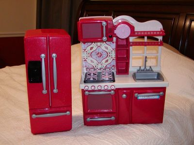 Our Generation Battat Childrens Refrigerator & Sink Stove Dishwasher Microwave combo