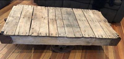 Rail cart , used for coffee table 56x30x14.5