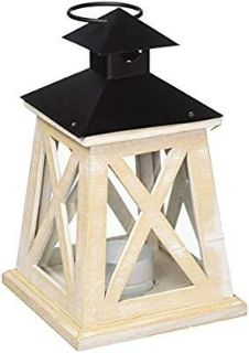 Koehler Home Indoor Decorative Hanging Colonial Heights Wood Candle Lantern X10