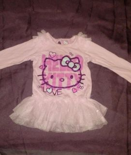 :: Hello Kitty brand size 12 months cute glittery long sleeve shirt good conditions BUNDLE DISCOUNT IF PURCHASE $25-$4
