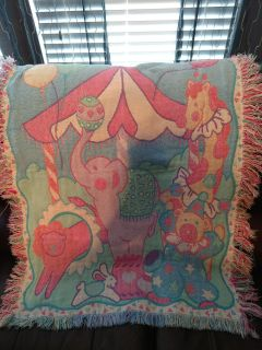 Circus themed baby blanket