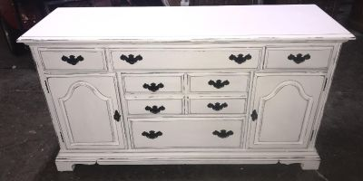 Gorgeous Buffet American Drew furniture painted Amy Howard bahaus Buff