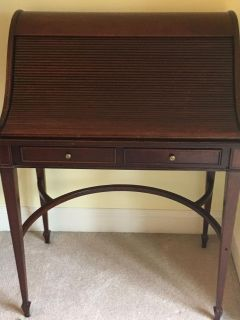 Cherry Wood Antique Style Desk- Roll-a-way Top