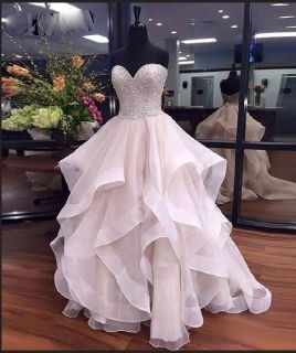 Brittney's Princess Organza Wedding Gown