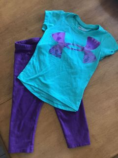 2T Toddler Girls UA Outfit