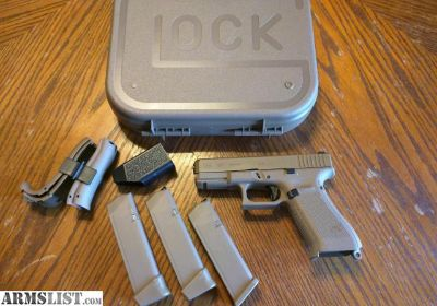 For Sale: Glock 19 X, Gen 5, 9mm Coyote Tan