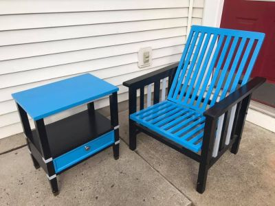 Carolina Panthers Chair and Side Table