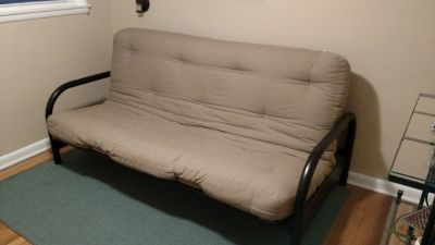Black Metal Futon with Full Size Mattress