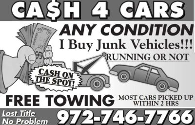 Cash for junk cars!!!!!!