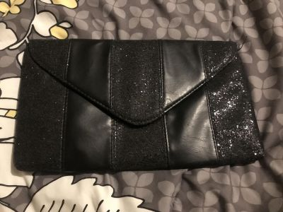 Black Glitter Going out clutch