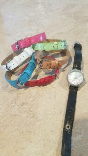 Watch with multiple colored bands
